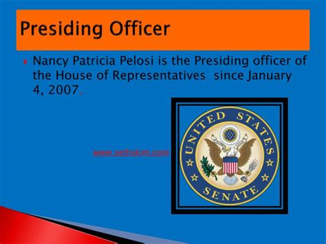 the presiding officer of the house of representatives is the ppt legislative branch project powerpoint presentation id 2753595