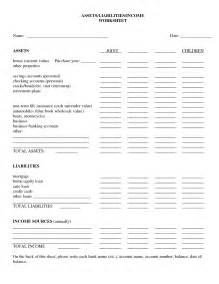 personal assets and liabilities statement template assets and liabilities worksheet worksheets