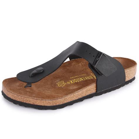 birkenstock ramses mens synthetic leather sandals black