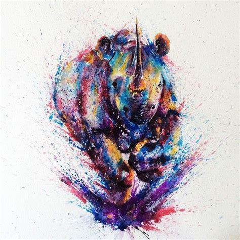 watercolor tattoos johannesburg best 25 rhino ideas on geometric