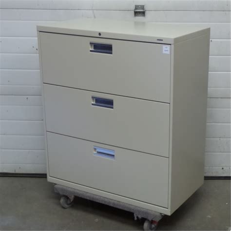 hon beige 3 drawer lateral file cabinet locking allsold