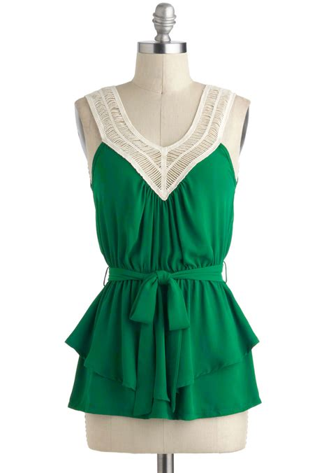 tangled up in green top mod retro vintage sleeve shirts modcloth