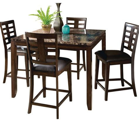 standard furniture dining room sets standard furniture bella 5 piece counter height dining