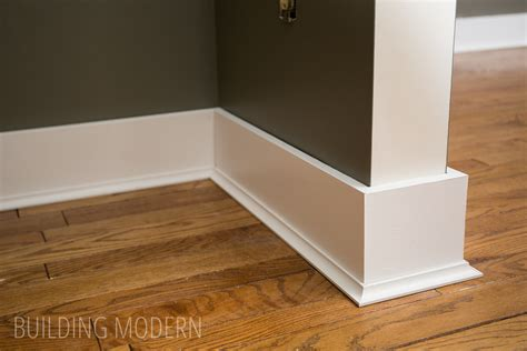 modern molding and trim installing baseboards cove moulding caulking