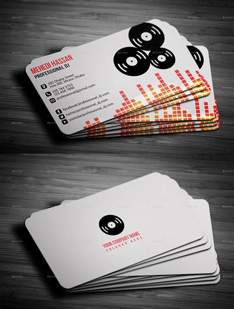 dj business cards templates free 18 dj business cards free psd eps ai indesign word