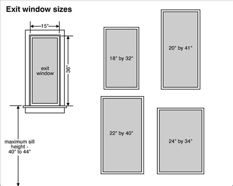 standard bedroom window size home design