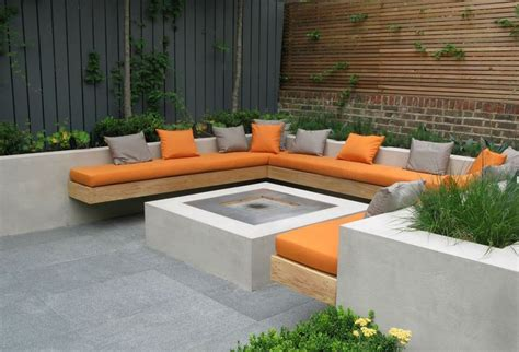 wall bench seating charlotte rowe courtyard garden with built in bench seat