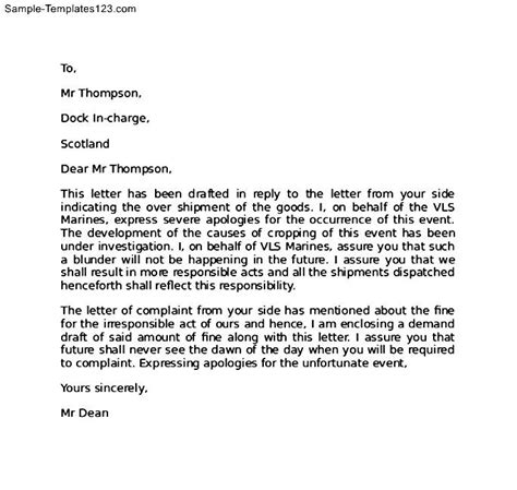 Complaint Letter Format For Wrong Delivery complaint letter format for late delivery of goods 28