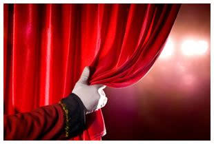 behind the red curtain man behind the curtain behind the red curtain a theatre