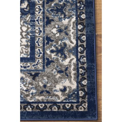 Gray And Blue Area Rug Area Rugs Artifact Blue Gray Area Rug Wayfair