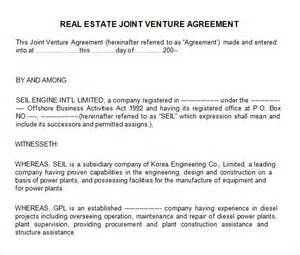 Joint Venture Agreement Template Free Sample Joint Venture 9 Free Documents In Pdf Word