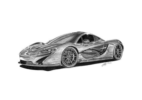 mclaren p1 drawing easy how to draw mclaren p1