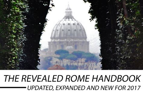 the new revealed rome guidebook is out revealed rome