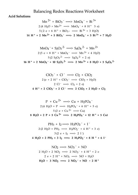 Redox Reactions Worksheet by 16 Best Images Of Organic Oxidation Reactions Worksheet