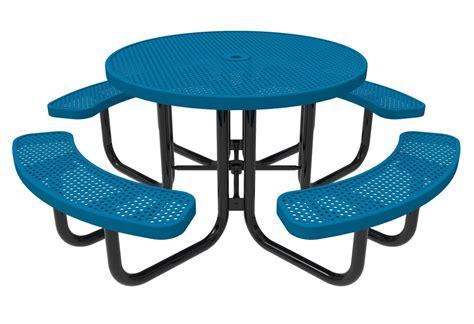 RHINO Round Thermoplastic Steel Picnic Table   Quick Ship