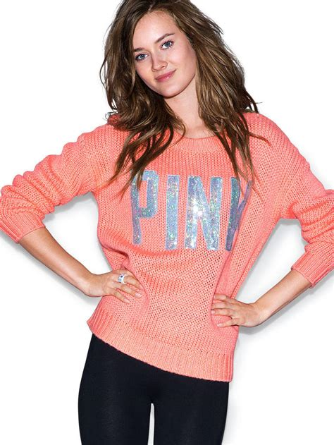 Sweater Victorias Secret 1 cozy sweater pink s secret from vs pink