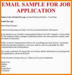 Business Letter Example For Applying For A Job 5 Sample Email For Job Application Statement Information