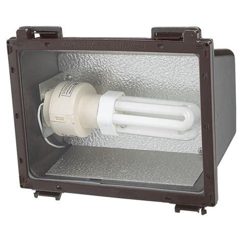 Outdoor Fluorescent Flood Lights Sea Gull Lighting Outdoor Wall Packs 1 Light Bronze Fluorescent Flood Light 86060bl 10 The