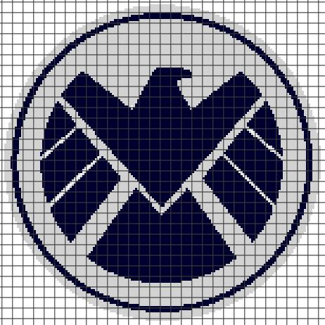 spiderman graphghan pattern marvel s h i e l d chart graph and row by row written