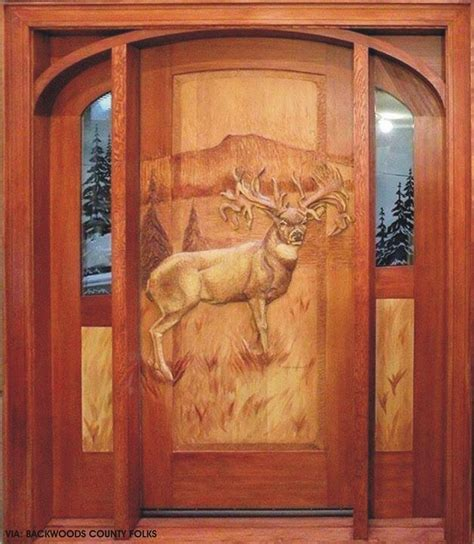 Carved Front Doors Carved Wood Door Arts And Crafts