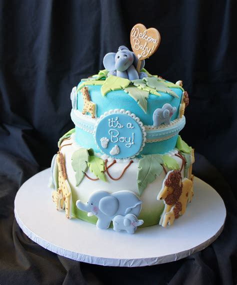 Safari Cakes Baby Shower by Safari Baby Shower Cake Figures Project Since