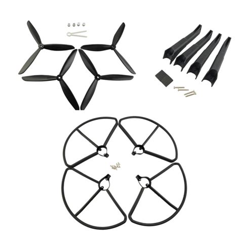 Terbatas Drone Hubsan H501s Propeller Guard Protector propellers protection cover landing gear set for hubsan h501s rc quadcopter sale banggood