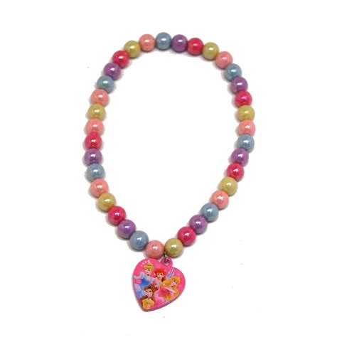 disney princess rainbow beaded necklace