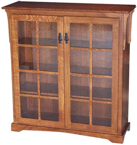 Mission Style Bookcase With Glass Doors Mission Medium Bookcase With Two Doors Indiana Amish Bookcase Mission Style Bookcase