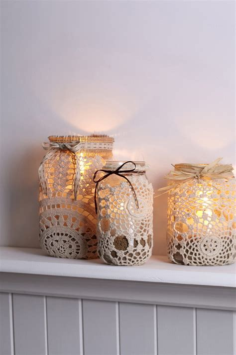 diy decorations candles 25 beautiful diy fabric and paper doily crafts 2017
