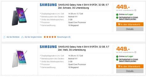 Samsung Galaxy Note 10 Vertrag by Samsung Galaxy Note 4 Ohne Vertrag 149 90 B Ware