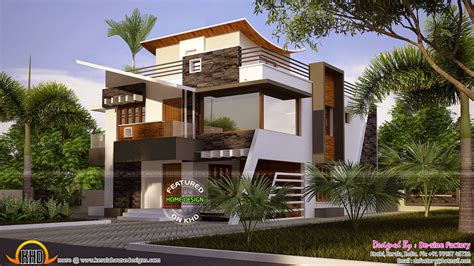 home design contemporary style floor plan of ultra modern house kerala home design and