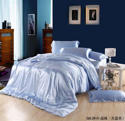 lightweight silk comforter light blue silk satin bedding sets sheets king size queen