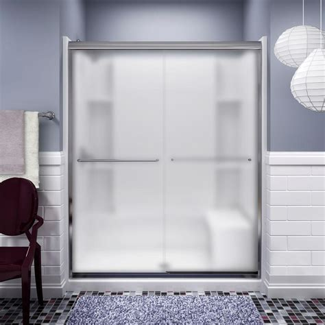 sterling bypass shower door sterling intrigue 36 1 8 in x 72 in neo angle shower