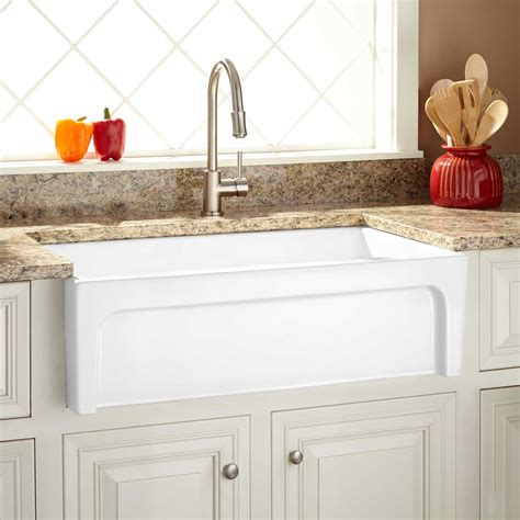 White Farmhouse Kitchen Sink Farmhouse Smooth Kitchen Sink Signaturehardware