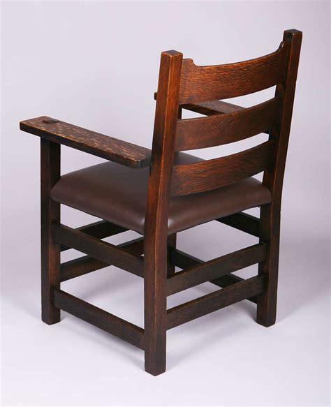 Stickley Armchair by Early Gustav Stickley U Back Armchair 2616 California Historical Design