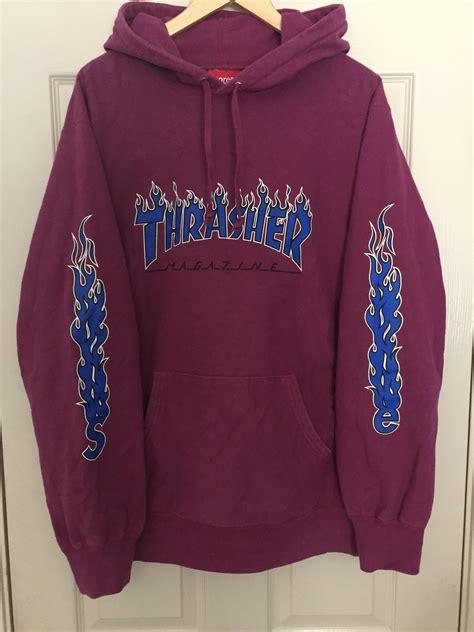Jaket Hoodie Supreme X Thrasher Grey buy supreme x thrasher hoodie 58