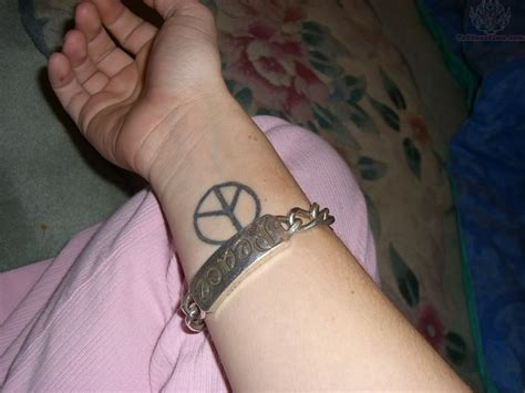 peace sign tattoo on wrist peace images designs