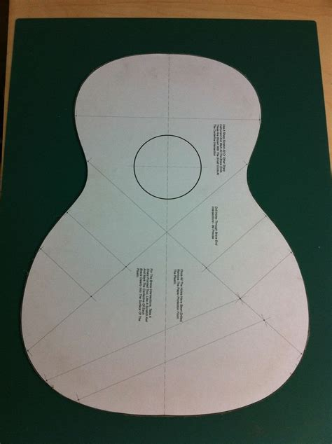 guitar building templates and molds baconworks