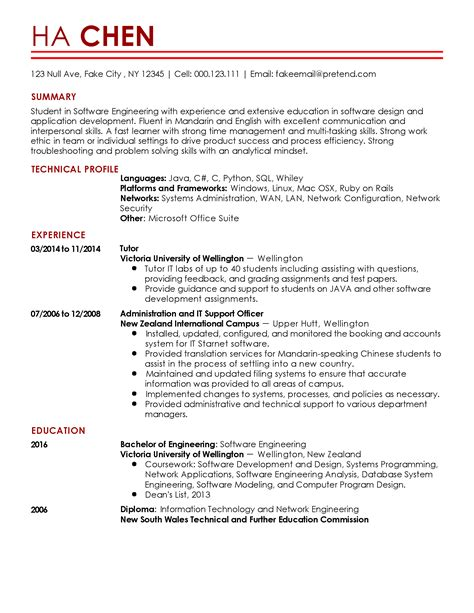 Software Engineer Resume by Professional Entry Level Software Engineer Templates To