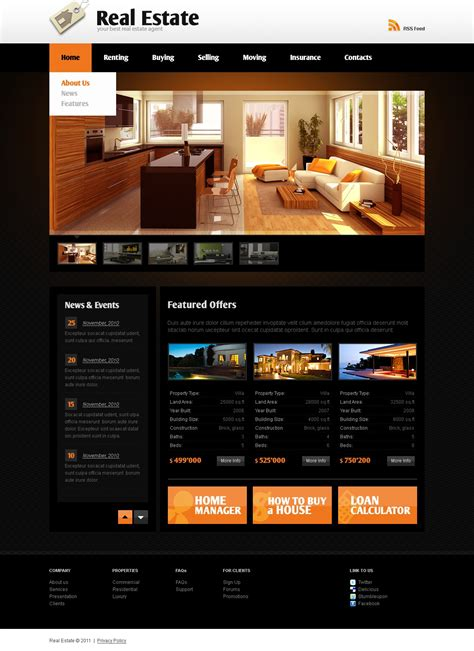 website templates for real estate agents real estate agency website template 32914