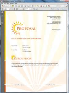 beverage distributor product sales sample proposal