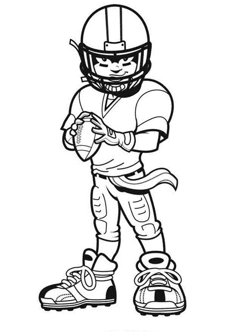American Football Players Kids Coloring Pages Football Player Color Pages