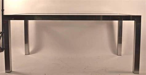 Black Parsons Dining Table Aluminum Base Parsons Dining Table With Black Formica Leaves For Sale At 1stdibs
