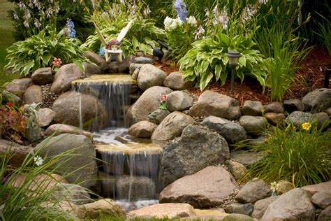 small waterfalls backyard aquascape your landscape the sound of waterfalls