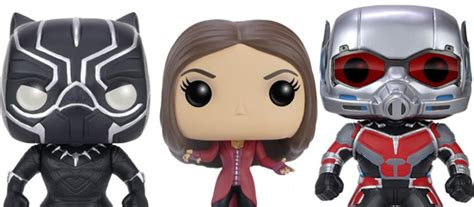 Funko Pop Captain America Civil War Scarlet Witch funko unveils civil war vinyl figures for 13 scarlet witch and more