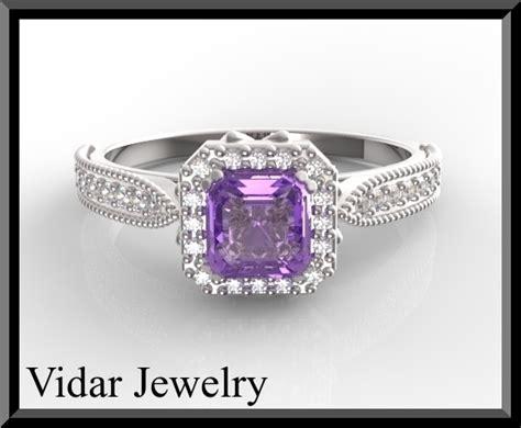 emerald cut amethyst engagement ring vidar jewelry