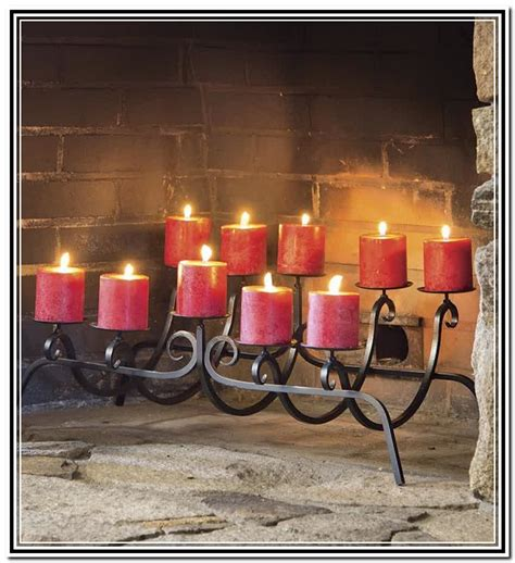 candle fireplace insert fireplace candle holders are incredibly easy to set up