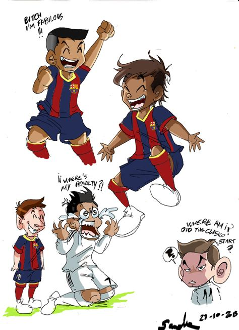 doodle real madrid clasico doodles by delaiglesia on deviantart