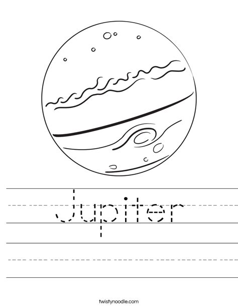 jupiter worksheet twisty noodle