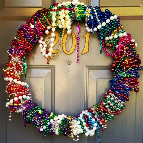 mardi gras bead wreath mardi gras bead wreath i so many from this